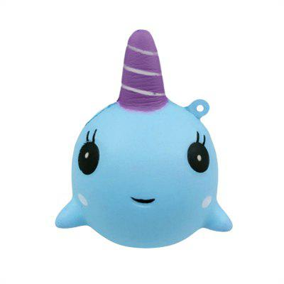Slow Recovery Cartoon Whale Shape Squeeze Stress Reliever Toy