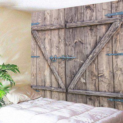 Old Wooden Door Printed Wall Hanging Tapestry