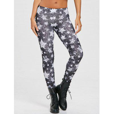 Monochrome Star Print Leggings