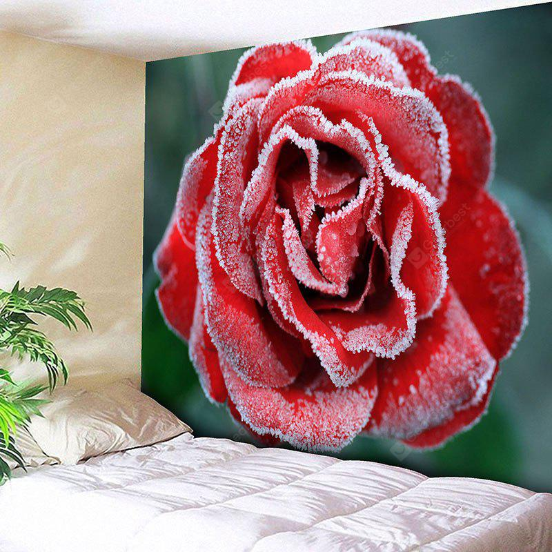 Frost Rose Pattern Wall Hanging Tapestry