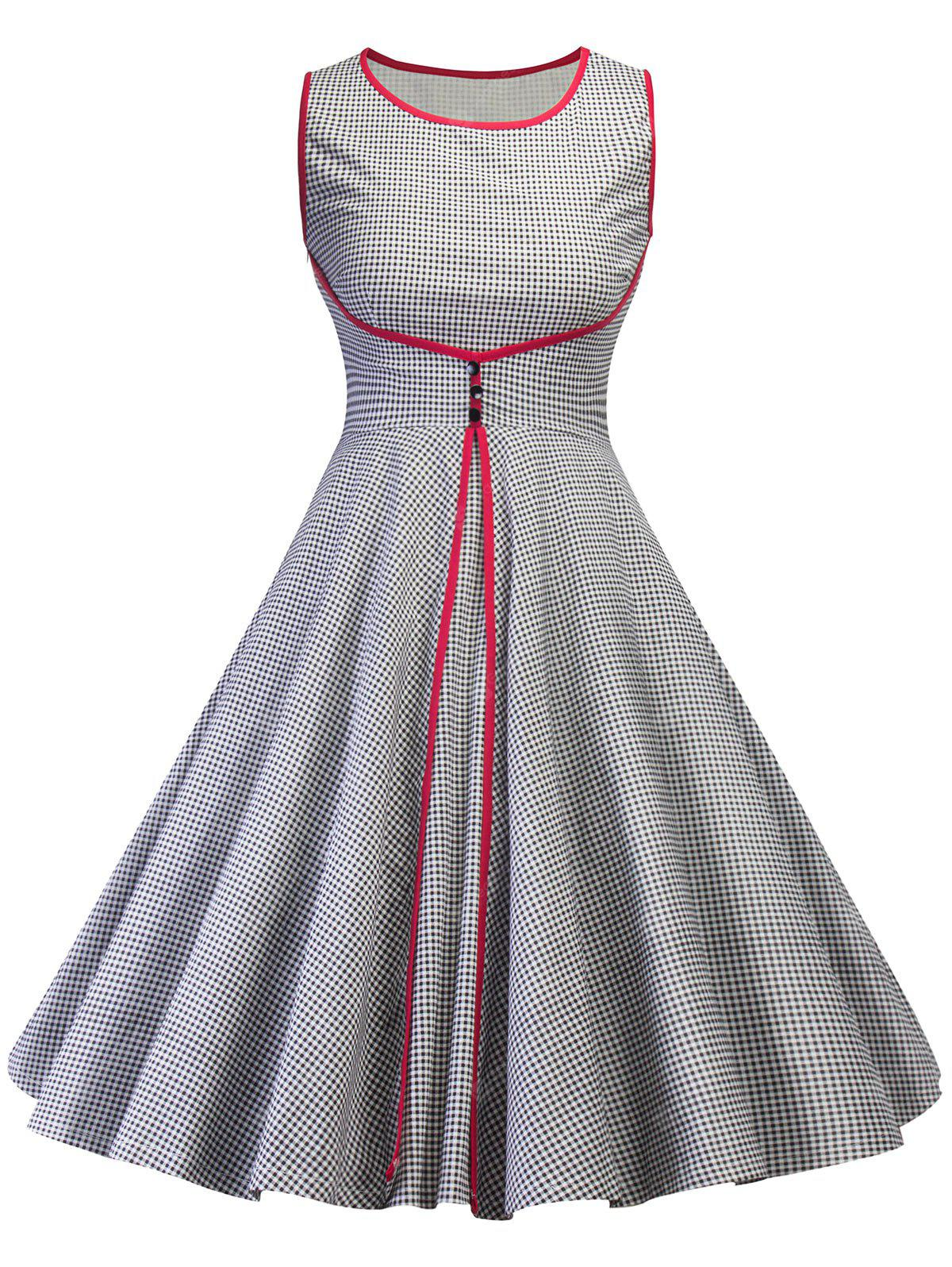 Vintage Checked Pin Up Swing Dress