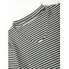 Keyhole Neck Striped Crop Tee - BLACK STRIPE