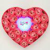 Led Flash Light Heart and Soap Roses in a Box Valentine's Day Gift - PINK