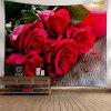 Wall Hanging Valentine's Day Rose Flowers Tapestry - RED