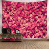 Wall Hanging Valentine's Day Petals Pattern Tapestry - PAPAYA