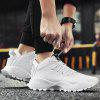 Mesh Tongue Low Top Sneakers - WHITE
