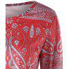 Paisley Long Sleeve T-shirt - RED