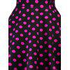 Vintage Halter Polka Dot Backless Pin Up Dress - BLACK