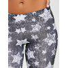 Monochrome Star Print Leggings - BLACK