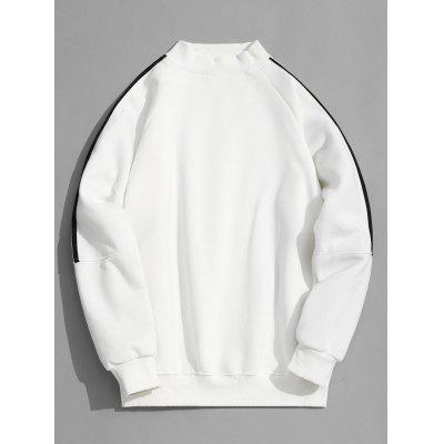 Casual Mock Neck Fleece Lining Sweatshirt