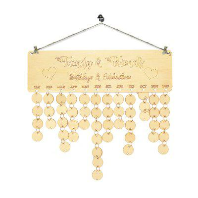 Family Wooden DIY Birthday Calendar Reminder Board