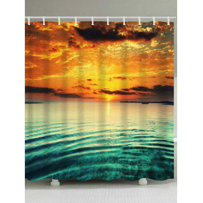 Buy Sea Sunset Print Waterproof Shower Curtain, COLORMIX, Home & Garden, Bathroom, Shower Curtain for $17.60 in GearBest store