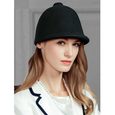 Soft Faux Wool Pointed Top Pattern Pillbox Hat