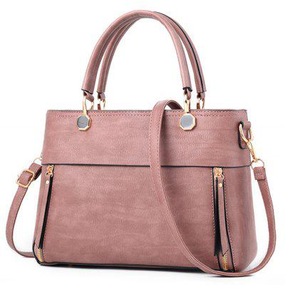 PU Leather Tote Bag With Strap