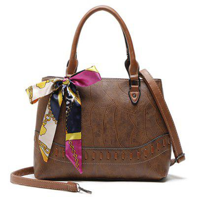 Scarf Bowknot Whipstitch Tote Bag