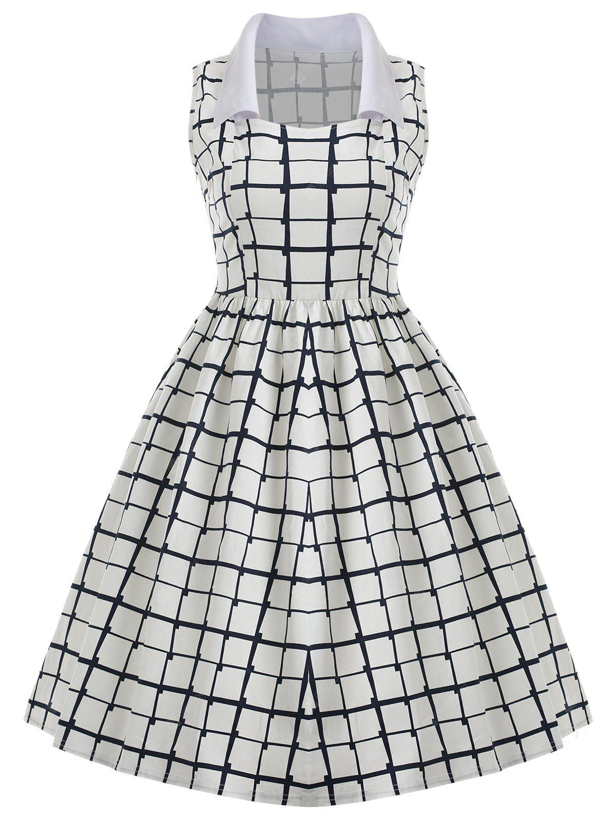Vintage Checked Pin Up Dress