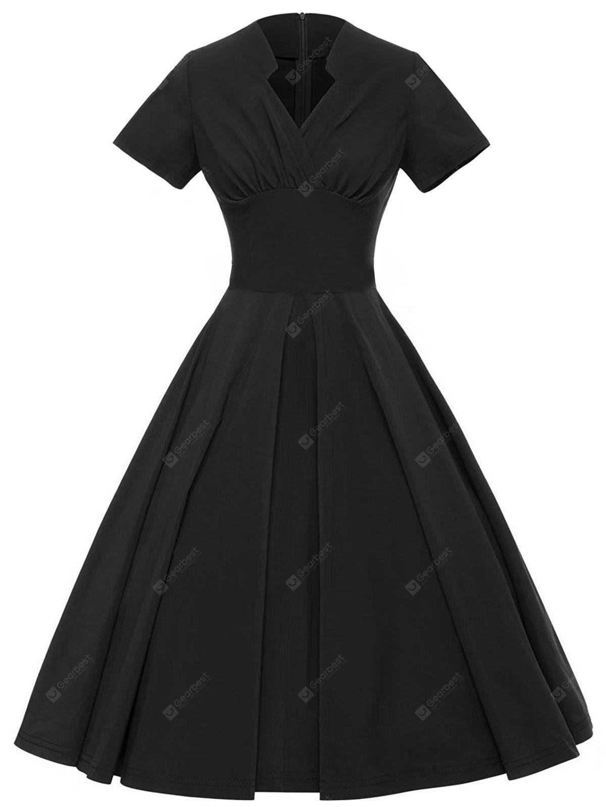 Vintage Ruched Swing Pin Up Dress