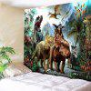 Dinosaurs World Wall Art Tapestry - VERDE