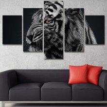 Angry Tiger Printed Unframed Canvas Wall Art Paintings
