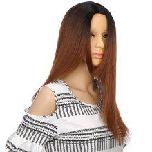 Long Ombre Center Parting Straight Synthetic Wig