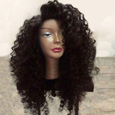 Long Side Parting zottige tiefe Welle Lace Front synthetische Perücke