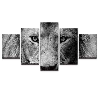 Lion Staring At you Printed Unframed Canvas Wall Art Paintings yhhp 4 panels eiffel tower in the rain landscape print canvas art unframed