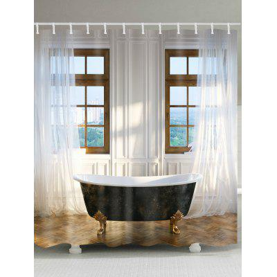 Classic Bathroom Printed Waterproof Shower Curtain