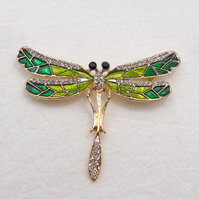 Dragonfly Faux Diamond Brooch