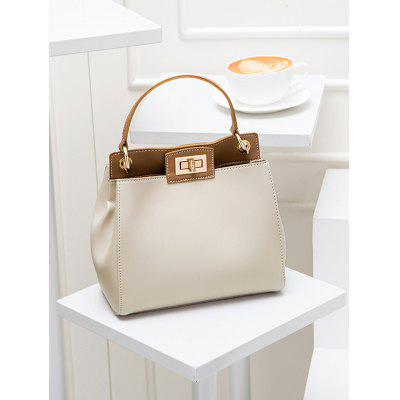 Color Block Twist Lock PU Leather HandbagHandbags<br>Color Block Twist Lock PU Leather Handbag<br><br>Closure Type: Hasp<br>Gender: For Women<br>Handbag Size: Small(20-30cm)<br>Handbag Type: Totes<br>Main Material: PU<br>Occasion: Versatile<br>Package Contents: 1 x Handbag<br>Pattern Type: Others<br>Size(CM)(L*W*H): 20*8*17CM<br>Style: Fashion<br>Weight: 0.6000kg