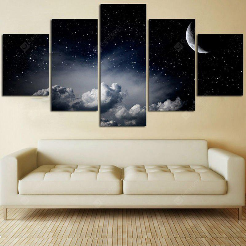 Starry Moon Night Printed Canvas Unframed Wall Art Paintings
