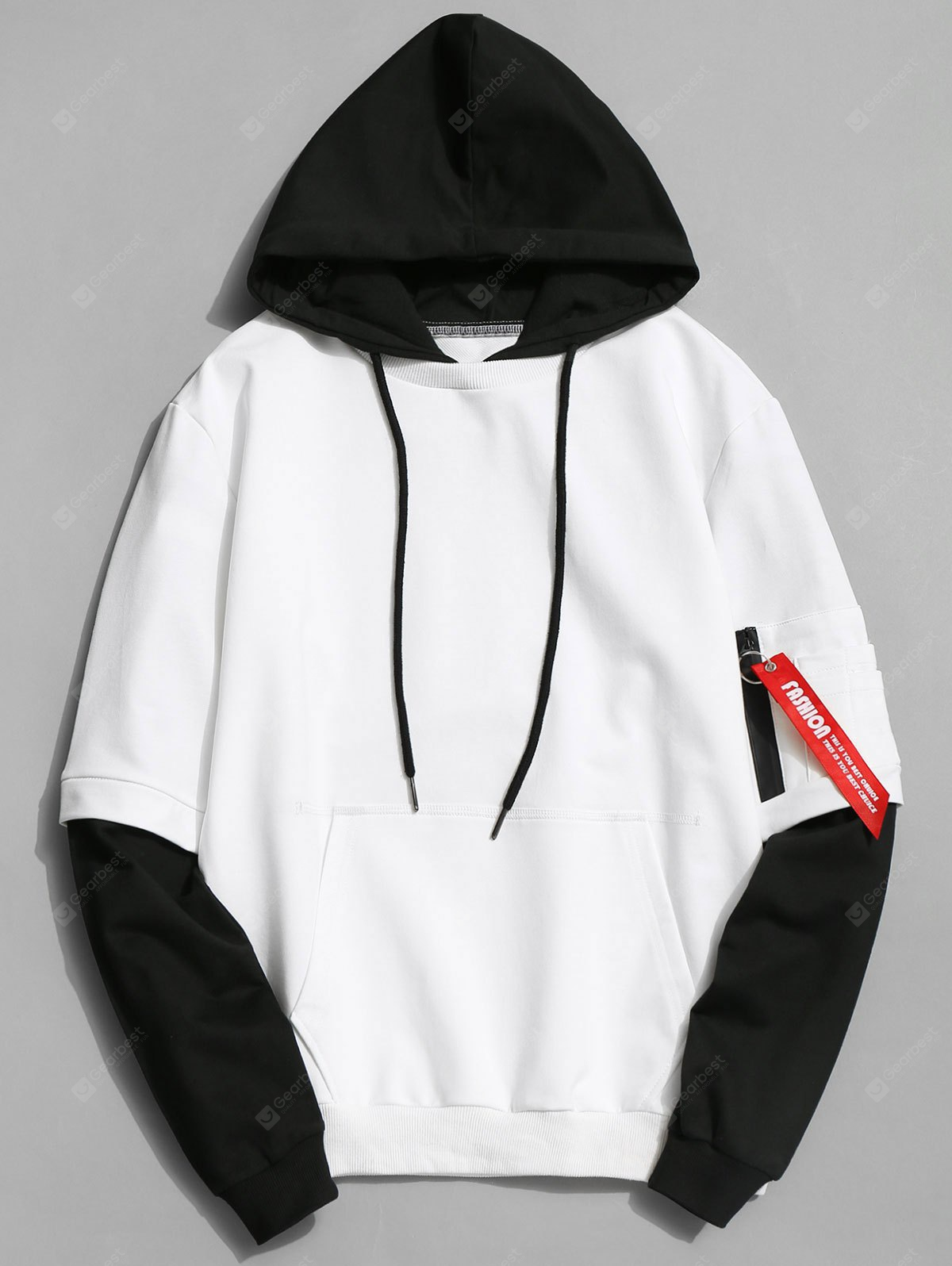 Two Tone Cotton Hoodie