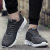 Color Block Round Toe Low Top Sneakers - GRAY