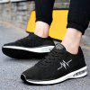 Breathable Embroidered Trim Low Top Sneakers - BLACK