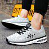 Breathable Embroidered Trim Low Top Sneakers - GRAY