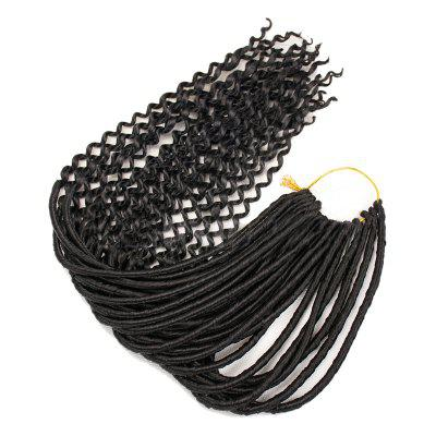 Long Crochet Braids Faux Locs Curly Synthetic Hair Extensions