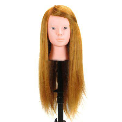 Long Straight Synthetic Wig Head Mannequin For Practice Training