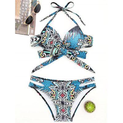 Moulded Tribal Wrap Bikini Swimsuit