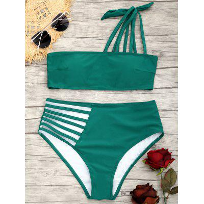 Riemchen One Shoulder Bikini Badeanzug