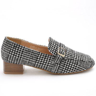 Schnalle Plaid Houndstooth Loafers