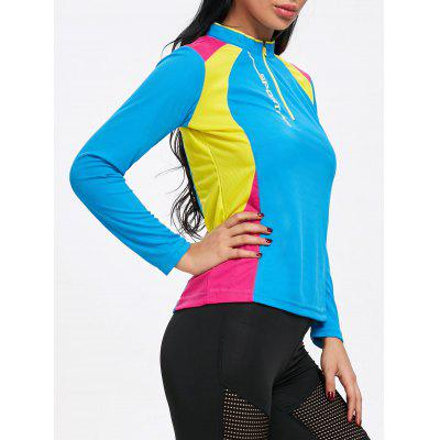 Maglietta da ciclista Hit Colour Half Zip