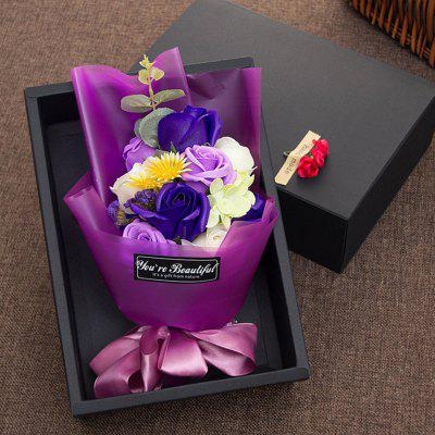 Soap Flowers In A Box Valentine's Day Gift