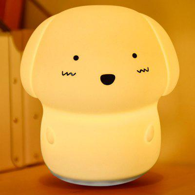 sound recording 7 colors changing adorable dog nightlight