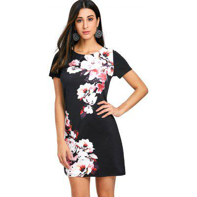 Floral Printed Mini Shift DressWomens Dresses<br>Floral Printed Mini Shift Dress<br><br>Dresses Length: Mini<br>Material: Polyester, Spandex<br>Neckline: Round Collar<br>Package Contents: 1 x Dress<br>Pattern Type: Floral<br>Season: Spring, Fall<br>Silhouette: Shift<br>Sleeve Length: Short Sleeves<br>Style: Brief<br>Weight: 0.3000kg<br>With Belt: No