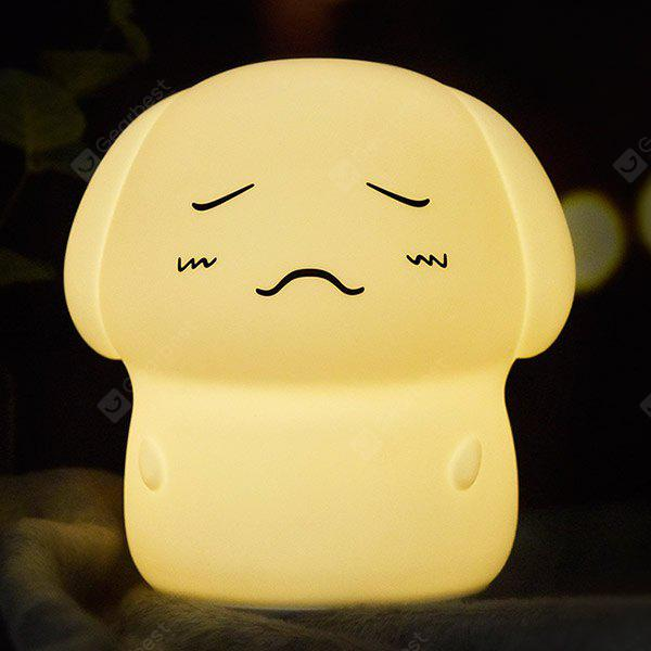 7 Color Changing Close Eyes Dog Sound Recording Night Light