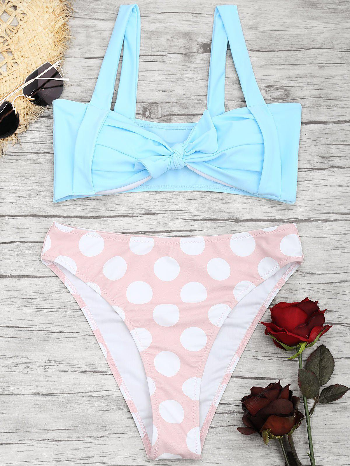 Pin Up Bowknot Thong Bikini