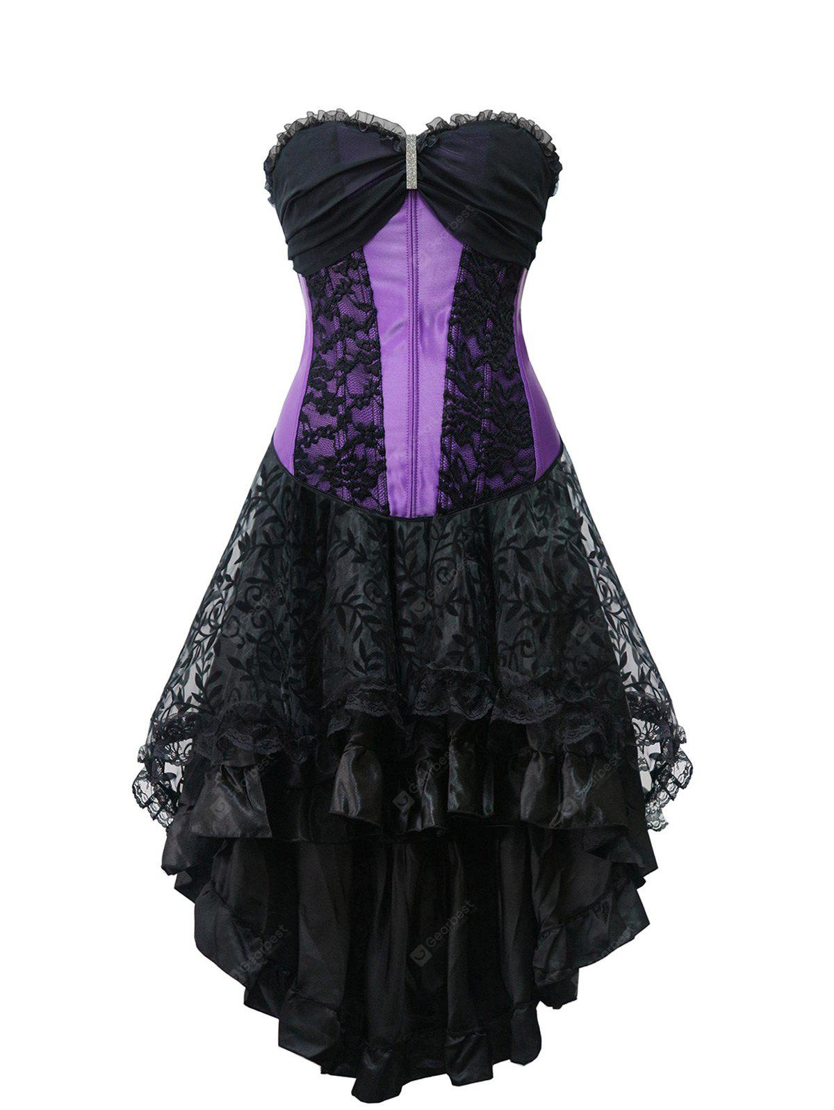 Strapless High Low Steel Boned Corset Dress
