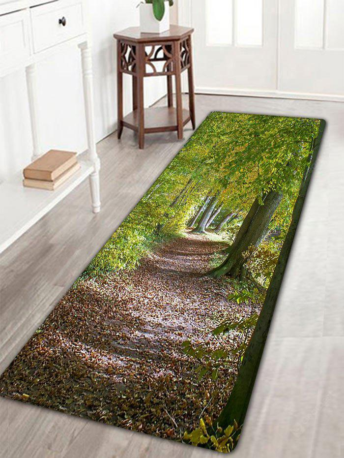 Forest Path Pattern Flannel Antislip Bath Mat