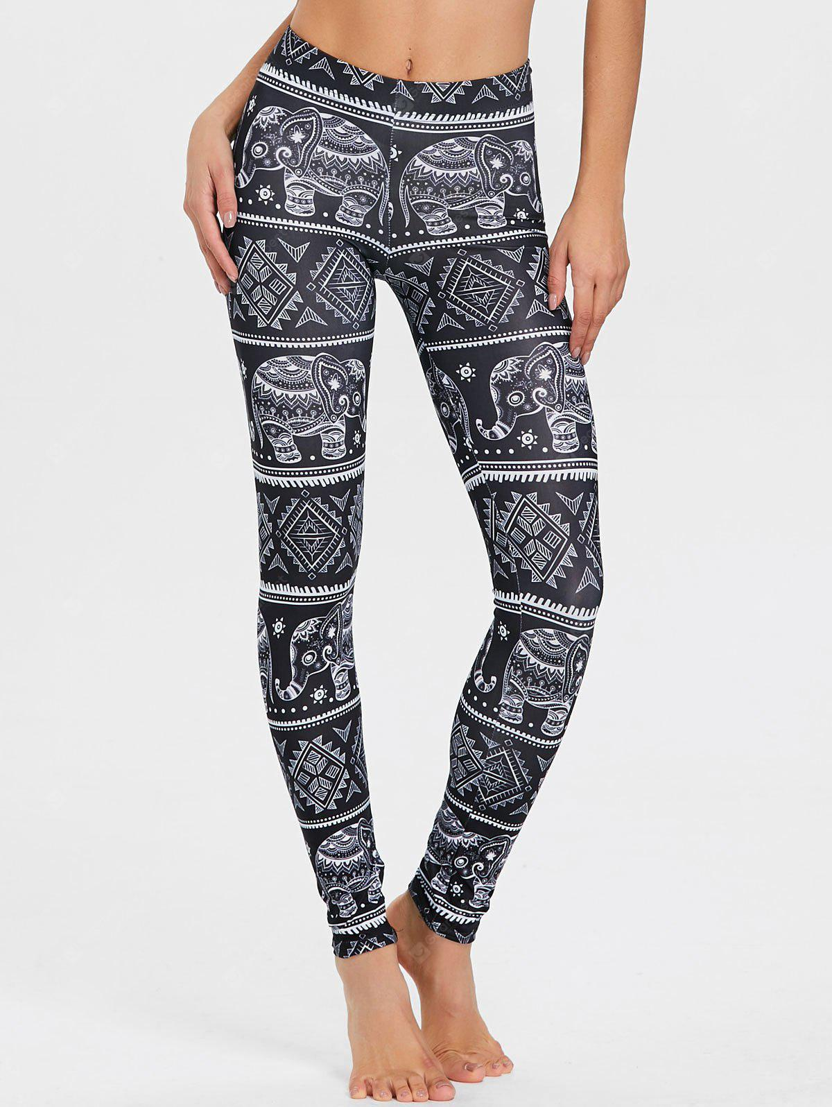 African Elephant Print Leggings