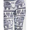 African Elephant Print Leggings - WHITE