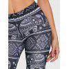 African Elephant Print Leggings - BLACK